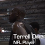Terrell Owens, Floyd Mayweather, and others at celebrity basketball game